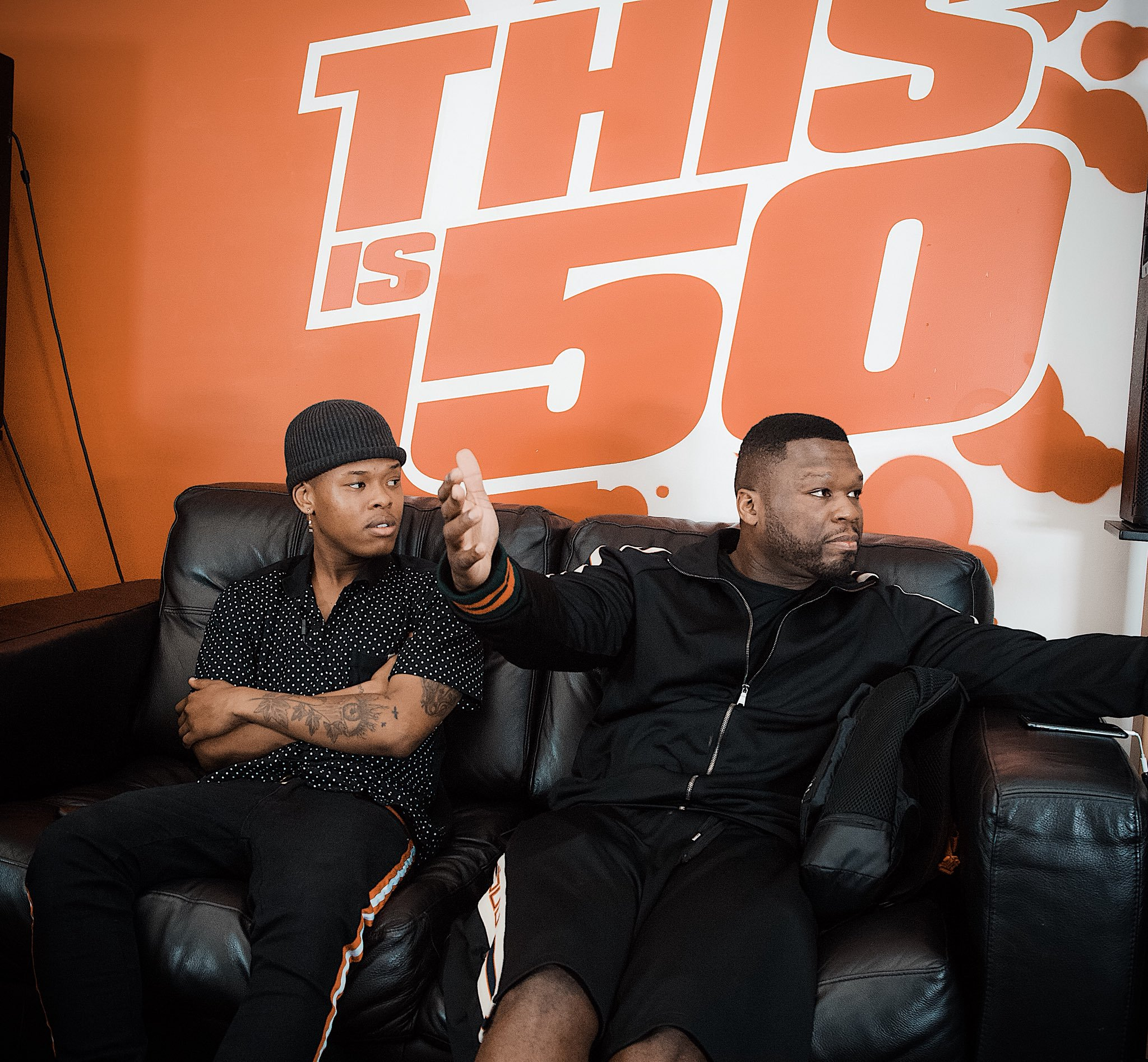 Photo of Awful HAIRCUT: Nasty C covers his hair while meeting with 50 Cent (PICTURES)