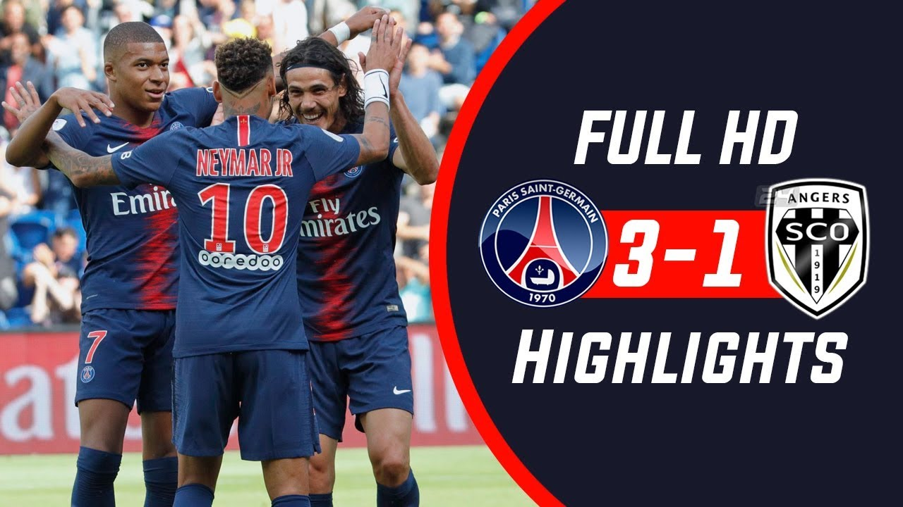 PSG VS Angers 3-1 All Goals Highlights - Hipxclusive